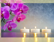 Orchid and candels